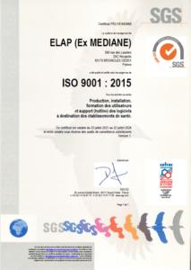 Certificat Iso Élap